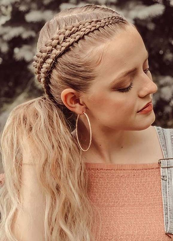 Gorgeous Double Braided Ponytail Hairstyles for 2020