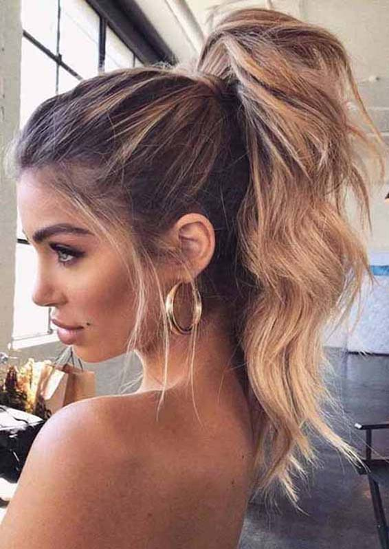 Easy High Ponytail Hairstyles to Show Off in Year 2020