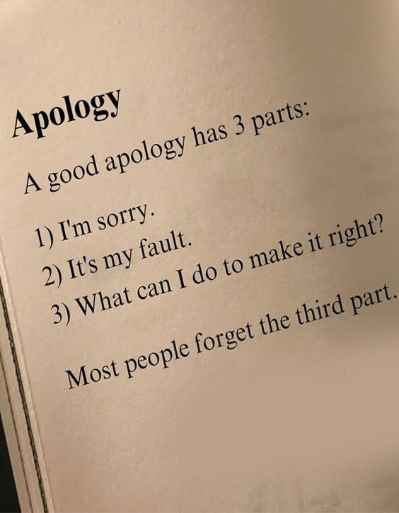Most People forget the Third Part - Best Quotes about Sorry