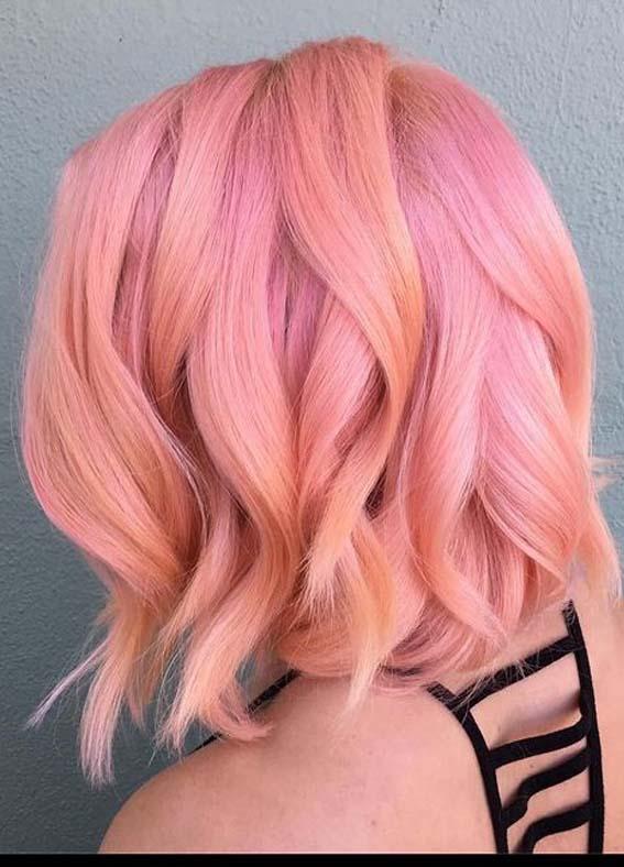 Elegant Peach Bob Haircuts for Girls