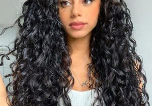 Modern Style of Curly Hair for Long Hair