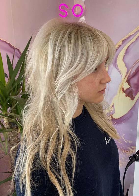 Face Framing Blonde Hair Styles for Long Hair