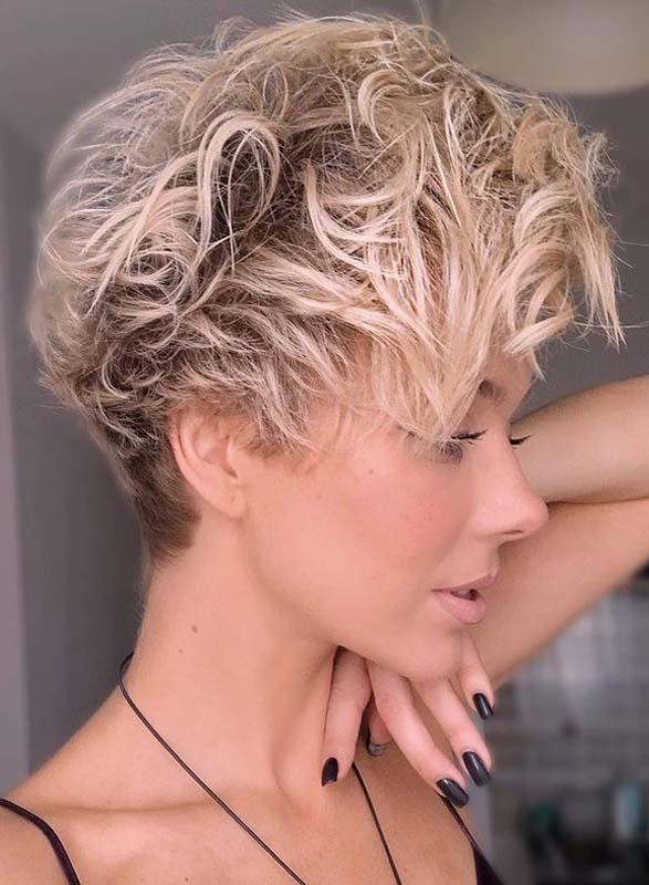 Fantastic Short Curly Pixie Hair Cuts