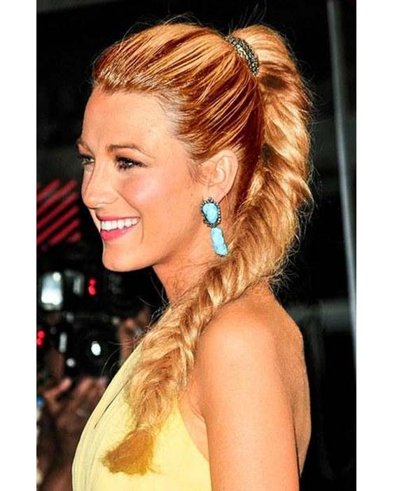 Braided long Fishtail Pony Hairstyles