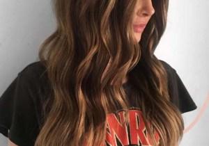 Brunette Awesome Highlights for Long Blonde Hair