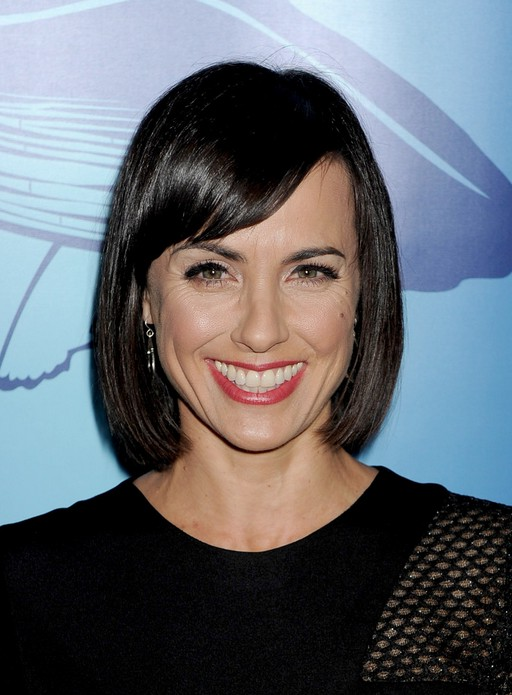 Constance Zimmer Medium Black Bob Hairstyle With Side