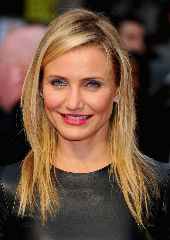Cameron Diaz Latest Long Blonde Hairstyle With Tousled
