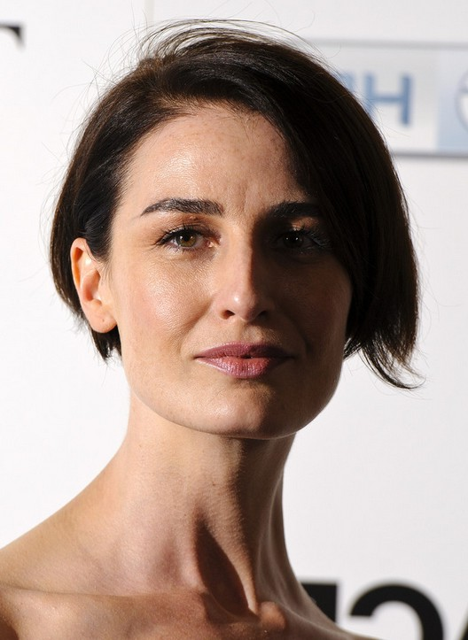 Erin OConnor Side Parted Haircut For Short Hair Styles