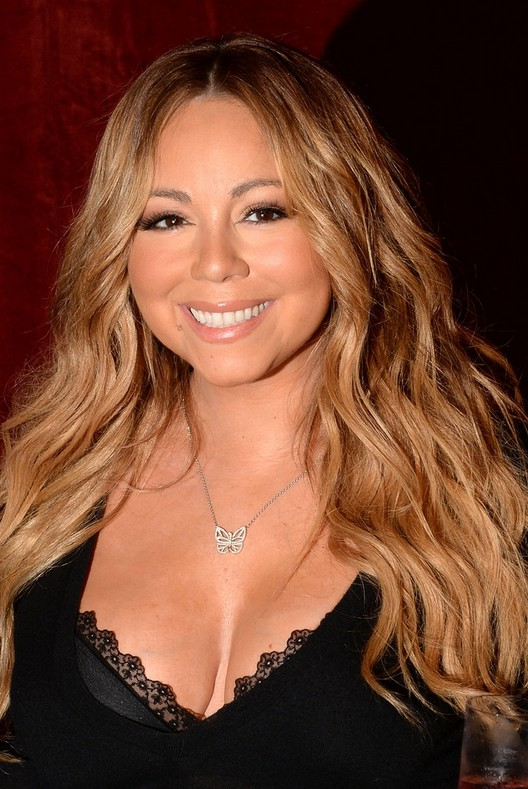 Mariah Carey Long Hairstyle With Mermaid Waves For Thick
