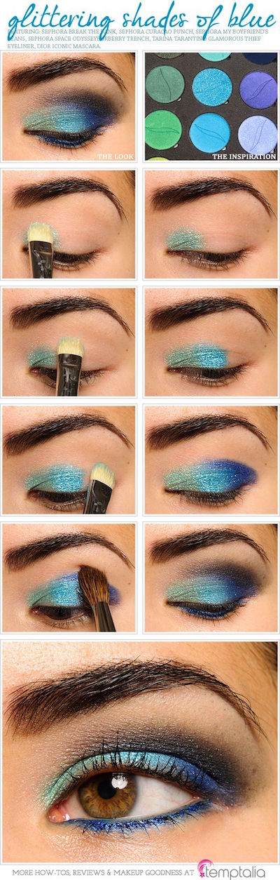 Glittering Shades of Blue