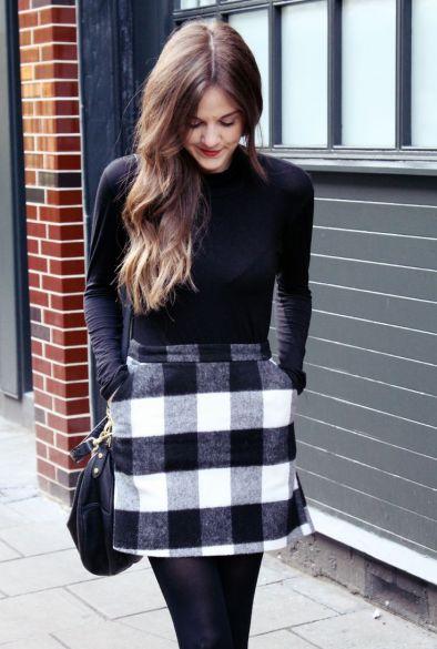 Checkerboard mini skirt