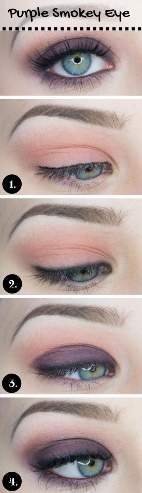17 best light smoky eye makeup tutorials for summer crazyforus soft purple smoky eye makeup tutorial baditri Gallery