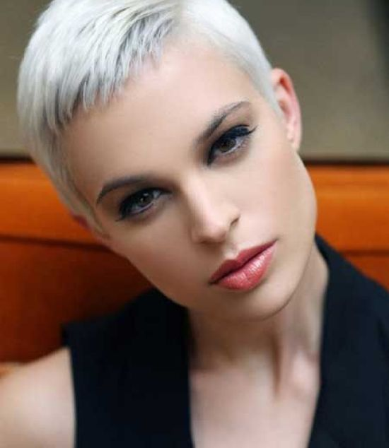 Short Pixie Cut With Side Part Hairstyle