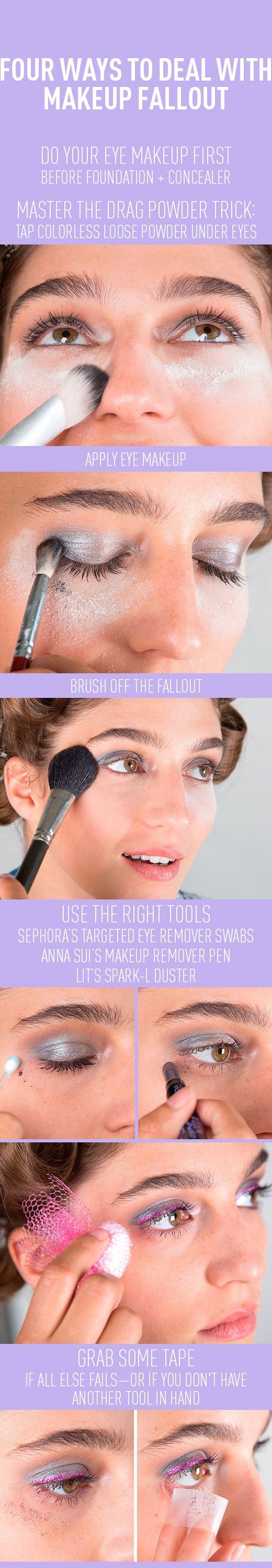 how to deal with makeup fallout