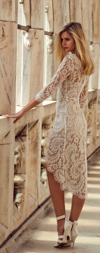 1151326b1dc7 17 Fantastic Ways to Wear Lace Dresses This Summer - crazyforus