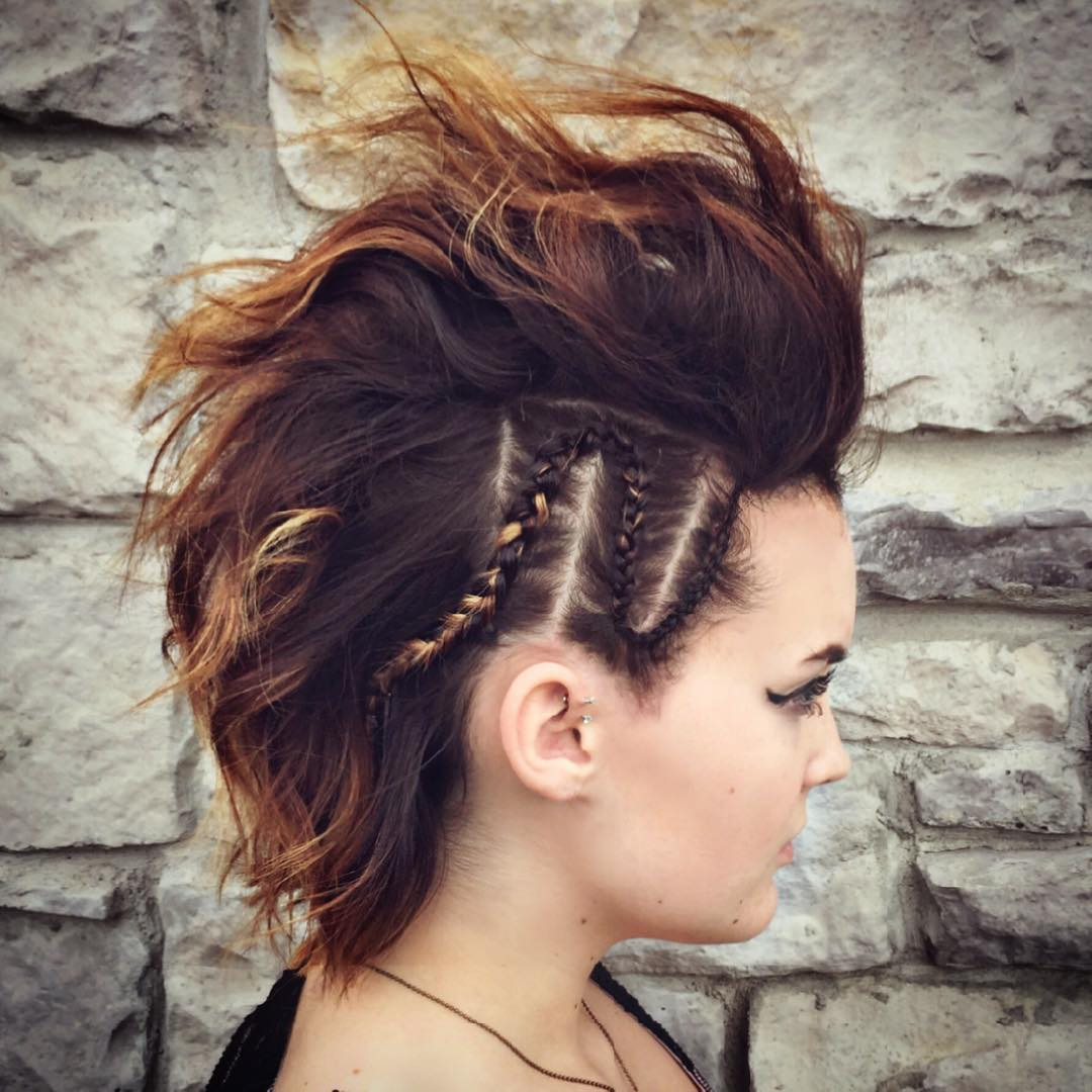 25 Cute Short Hairstyle With Braids Braided Short