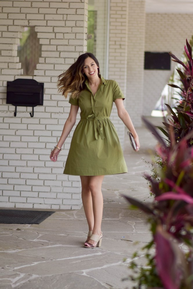 style the girl green tie front dress 12