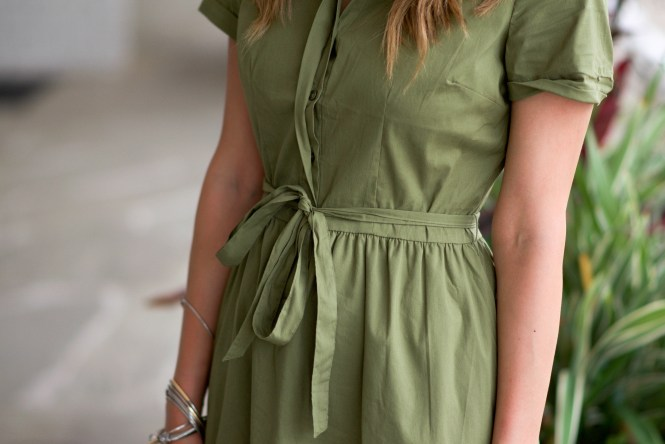 style the girl green tie front dress 20