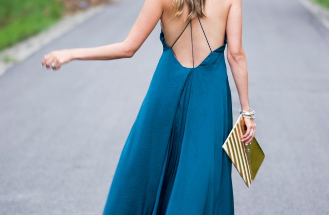 silk maxi dress, flowy silk maxi dress