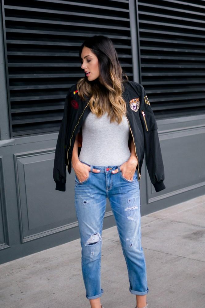 style the girl bomber jacket