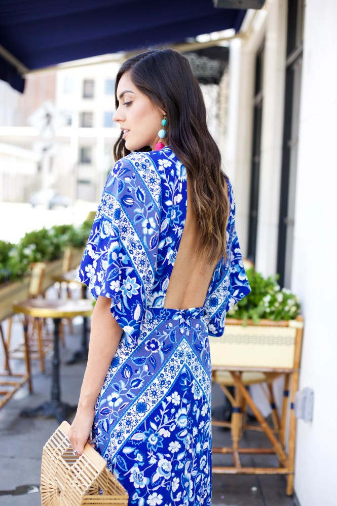 Style The Girl Blue Cutout Maxi Dress