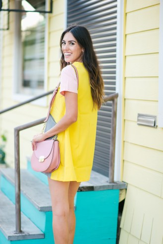 Style The Girl Color Block Mini Dress