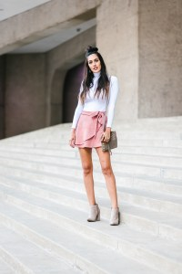 Style The Girl Wrap Suede Mini Skirt