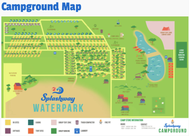 Splashway Waterpark Map