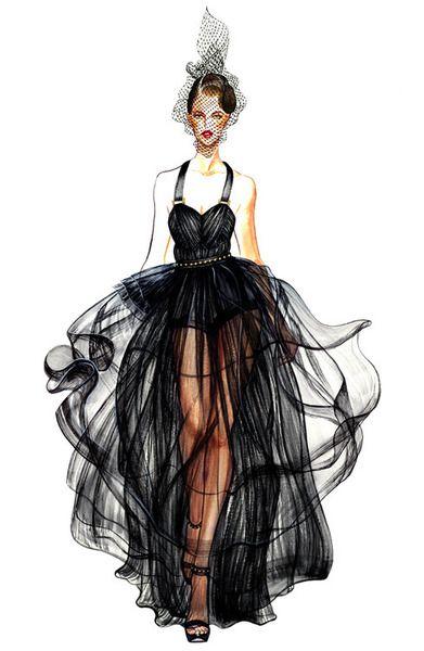 13 black dress fashion - 30+ Cool Fashion Sketches