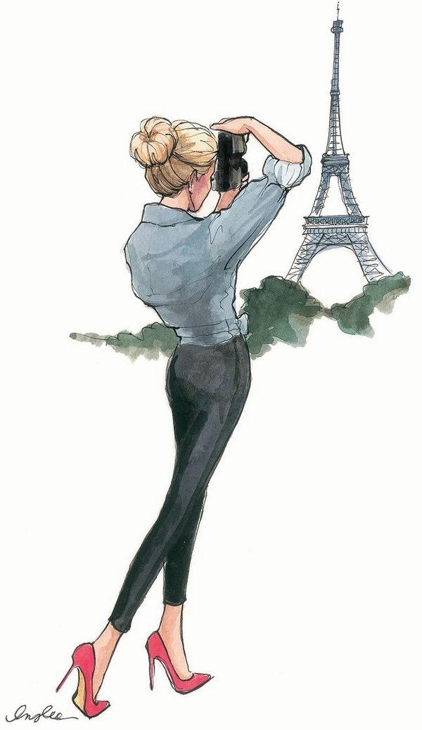 15 paris fashion sketch - 30+ Cool Fashion Sketches