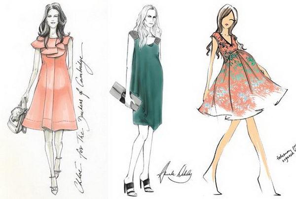 17 kate middleton fashion sketch - 30+ Cool Fashion Sketches