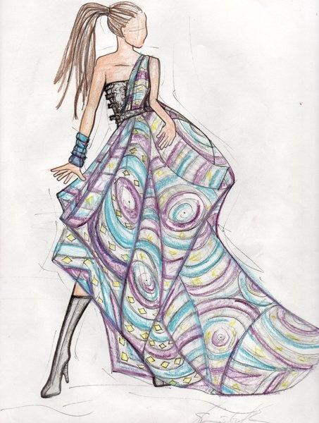 22 african fashion sketch - 30+ Cool Fashion Sketches