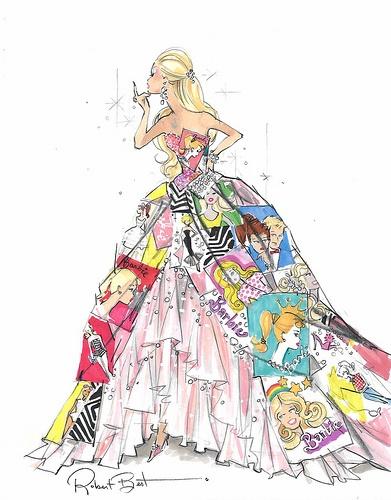 26 barbie fashion sketch - 30+ Cool Fashion Sketches