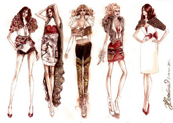 30 summer fashion sketches collection - 30+ Cool Fashion Sketches
