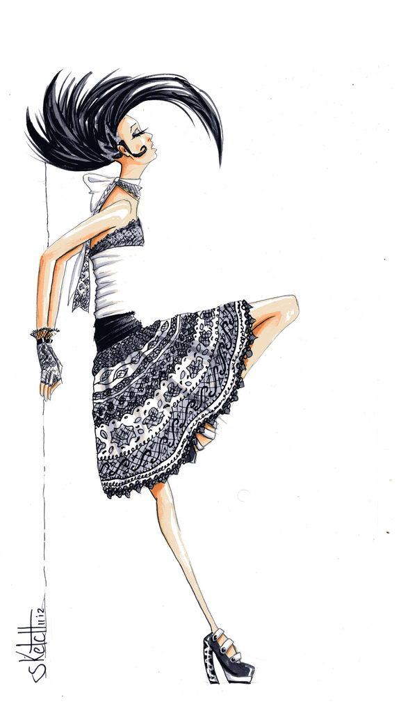 31 skirt fashion sketch - 30+ Cool Fashion Sketches