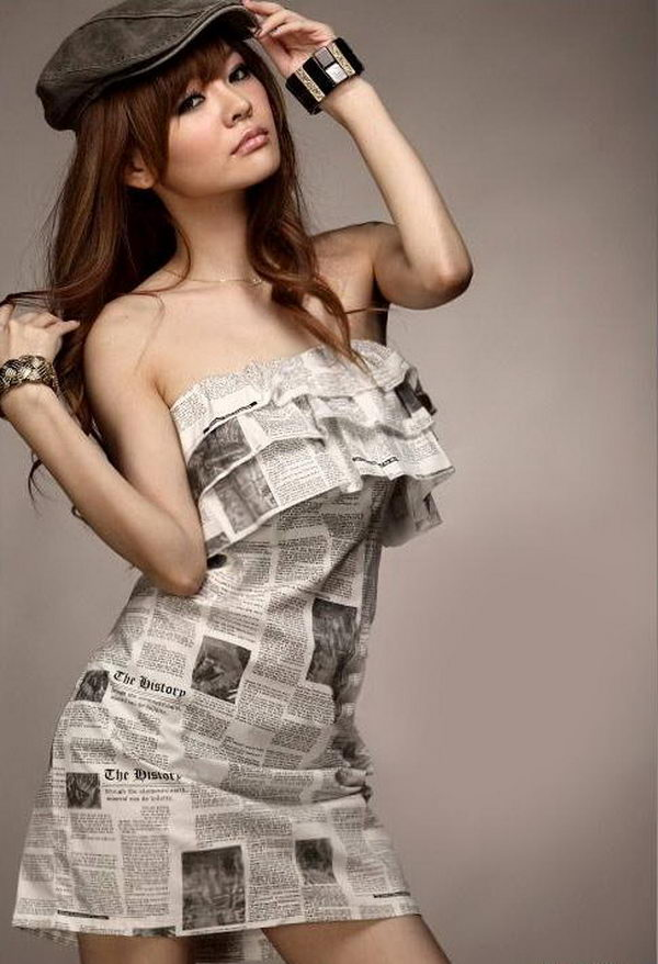 20 Creative Newspaper Craft Fashion Ideas