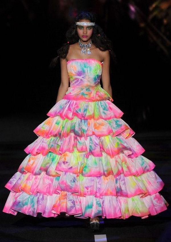 13 rainbow colored dress designs - 30 Gorgeous Rainbow Colored Dress Designs