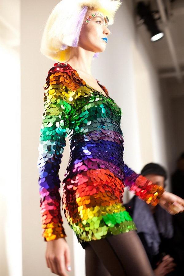 19 rainbow colored dress designs - 30 Gorgeous Rainbow Colored Dress Designs