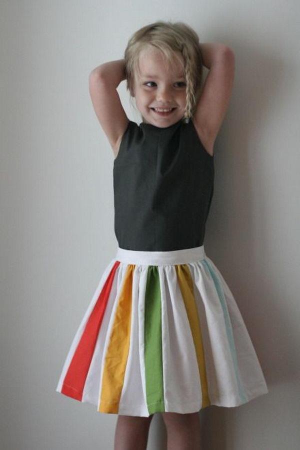 29 rainbow colored dress designs - 30 Gorgeous Rainbow Colored Dress Designs