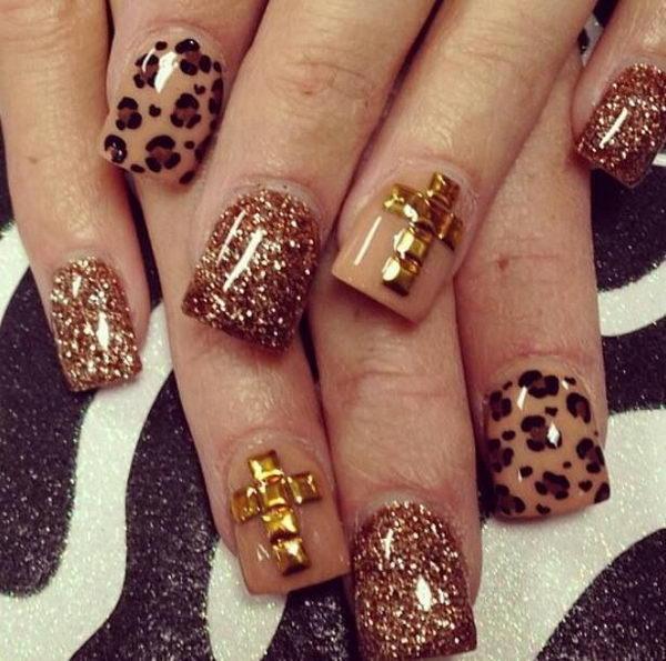 14 cheetah leopard nail designs - 15 Cheetah or Leopard Nail Designs