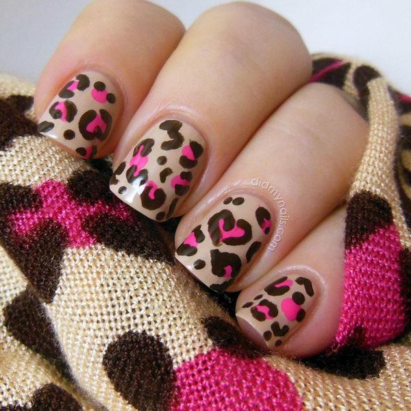 15 cheetah leopard nail designs - 15 Cheetah or Leopard Nail Designs
