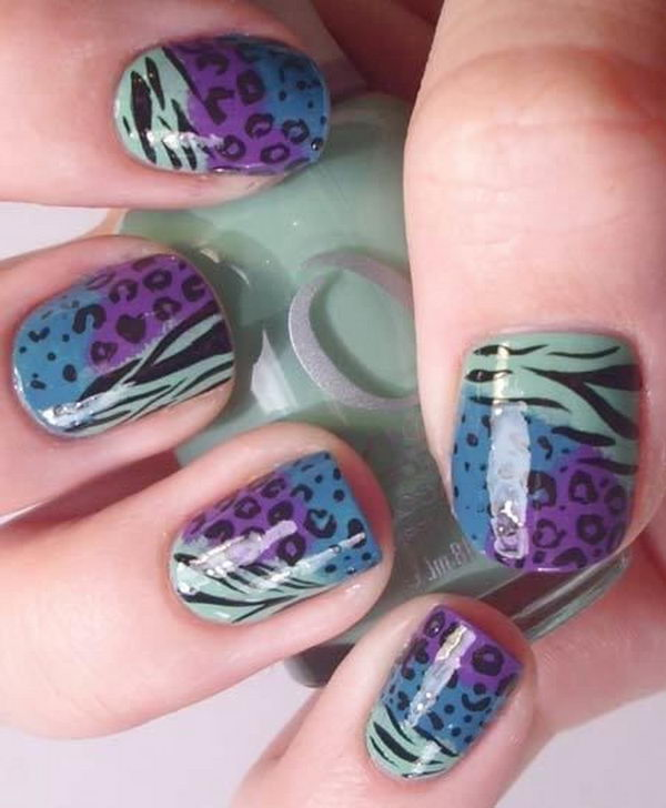 2 cheetah leopard nail designs - 15 Cheetah or Leopard Nail Designs