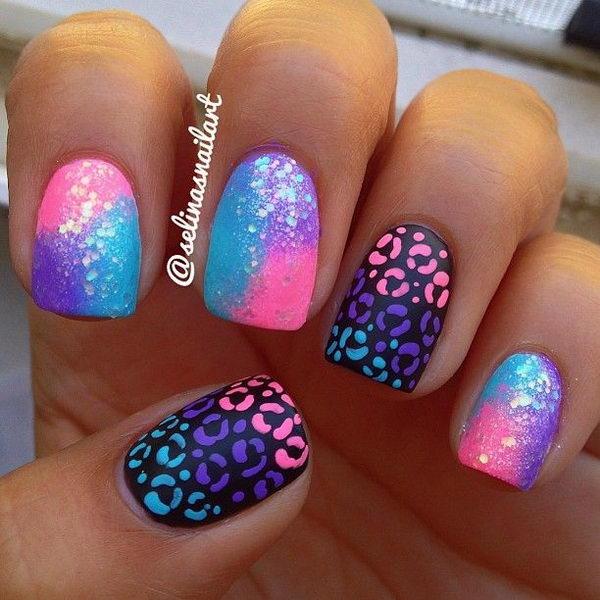 3 cheetah leopard nail designs - 15 Cheetah or Leopard Nail Designs