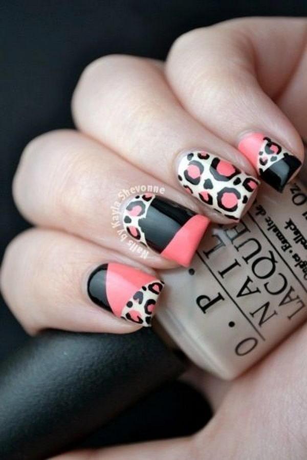 5 cheetah leopard nail designs - 15 Cheetah or Leopard Nail Designs