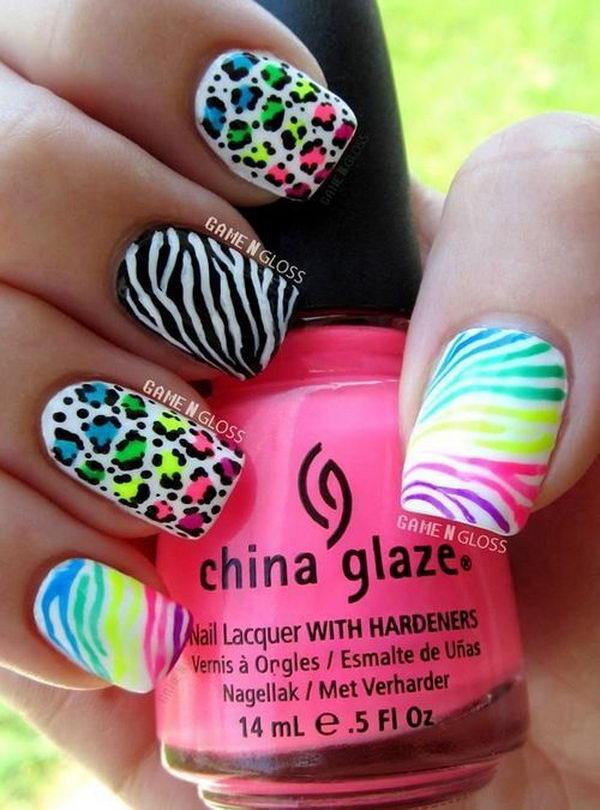 8 cheetah leopard nail designs - 15 Cheetah or Leopard Nail Designs