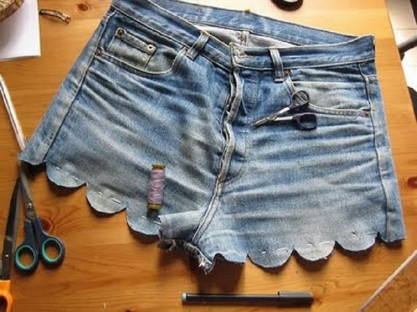 4 scallop shorts - 20 Cool DIY Shorts Ideas for Girls