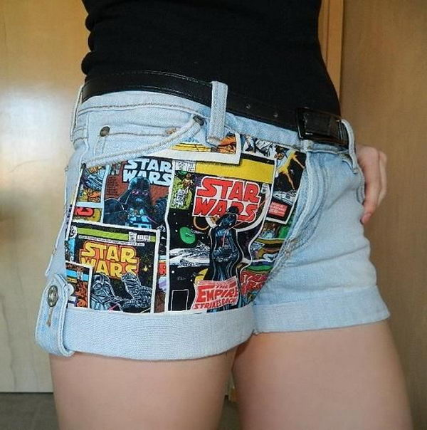 8 diy fabric panel shorts - 20 Cool DIY Shorts Ideas for Girls