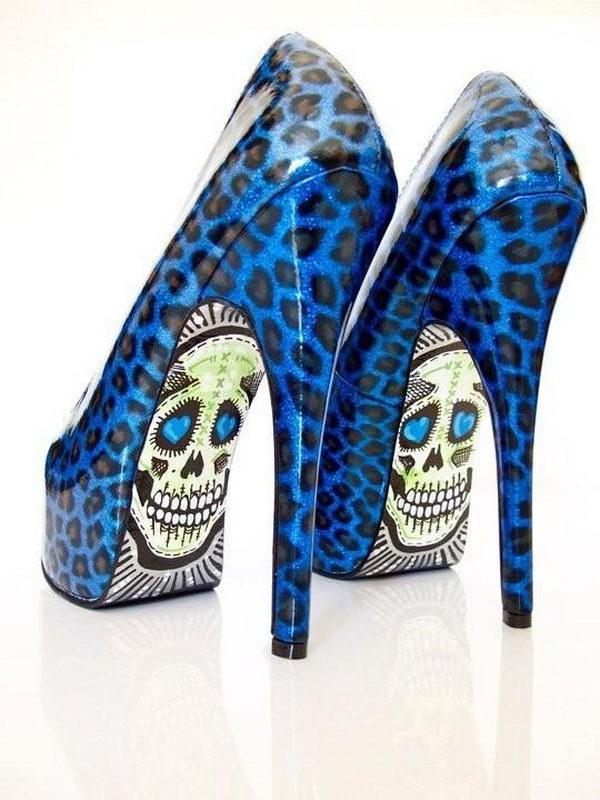 10 leopard skeleton shoes - 10 Creative Leopard Print Shoes Ideas