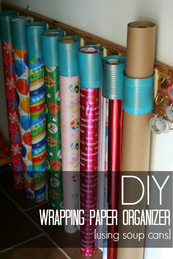 12 wrapping paper storage - Creative Wrapping Paper Storage Ideas