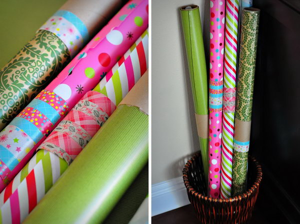 17 wrapping paper storage - Creative Wrapping Paper Storage Ideas